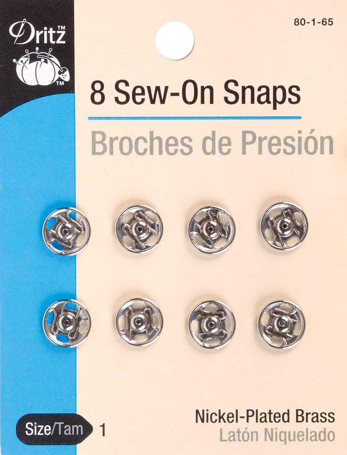 Dritz Sew-On Snaps Nickel Size 1