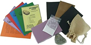 Galaxy Gifts Petoskey Stone (Real Petoskey Stone from Northern MI!) DIY Rock Polishing Kit Fun for Children or Adults! Includes Free Bonus Gift Bag