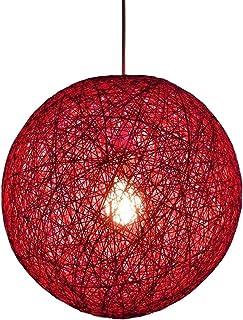 Huahan Haituo Kolorowa krata wiklina rattanowa kula żyrandol kreatywny salon balkon restauracja osobowość sypialnia lampa ...