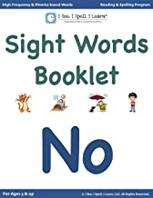 'No' - Sight Words Booklets for Kindergarten, 1st Grade & Dyslexia: High Frequency words | Dolch List | Phonics-based words