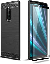 @ccessory TPU Case with Tempered Glass Screen Protector Compatible with Sony Xperia 1 J9110 Black