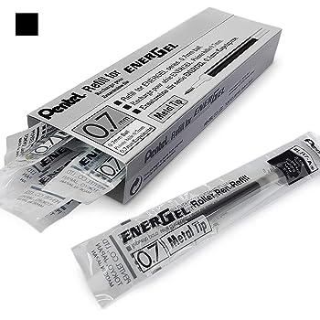 Pentel  LR7-A Cartuccia per seria EnerGel punta metallo da 0,7 mm 1 pz. Nero