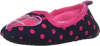 Dearfoams Kids Polka Dot Loafer with Plaid Heart Slipper
