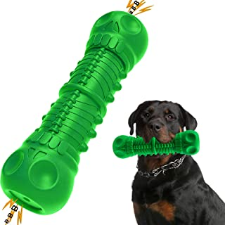 BELPRO Dog Chew Toys for Aggressive Chewers Large Breed, Squeaky Dog Bones Toys, Toothbrush Teething Toys for Medium Large...