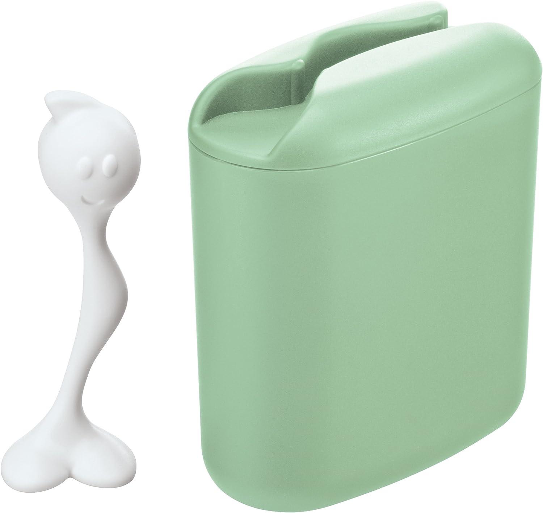 Koziol HOT STUFF L Storage Container, Large, Mint-Cotton White