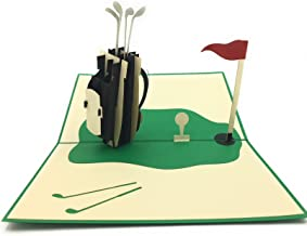 Golf lovers and enthusiasts unique pop-up card! For parents or grandfather's bday, co-workers and retirement