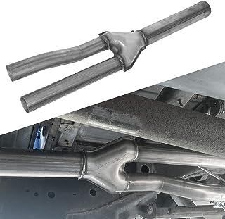 Dual Exhaust Muffler Delete Y-Pipe Kit Fits 2009-2019 Dodge Ram 1500 Hemi 5.7L Pickup Truck Stainless Steel
