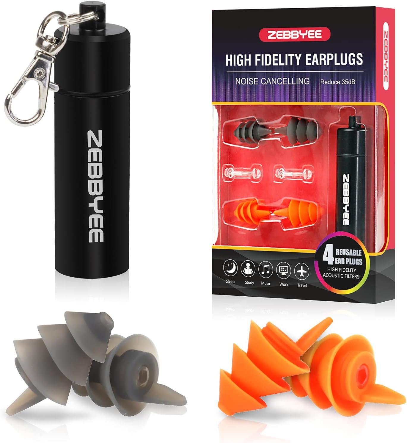 2021 spring and summer new Zebbyee half Earplugs Noise Reduction Plugs-35dB Silico Ear Reusable