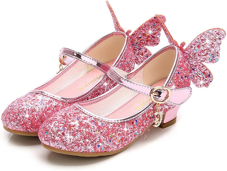 Bon Soir Girls Mary Jane Wedding Party shoes Glitter Bridesmaids Low Heels Princess Dress shoes Summer Sandals