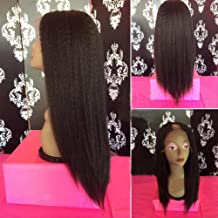 130 Density Italian Yaki Middle Opening 1X3 U Part Wig Glueless Brazilian Virgin U Part Human Hair Wigs For African American Women (16