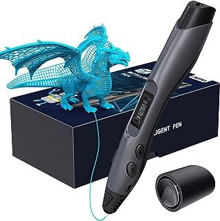 Aerb Stylo 3D, Stylo d'Impression 3D avec Écran LCD, Compatible avec Filaments PLA ABS de 1,75 mm, 8 Vitesses Réglables, S...