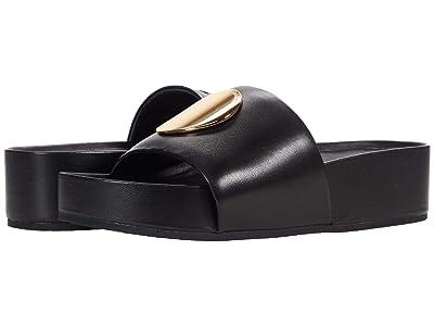 Tory Burch Patos Slide (Perfect Black/Perfect Black) Women