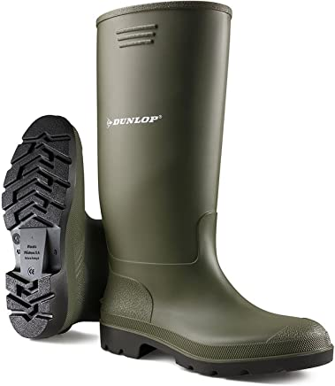 LADIES GREEN DUNLOP WELLINGTON BOOTS UK4 : boots