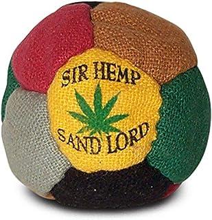 World Footbag Sir Hemp Hacky Sack Footbag, Black/Green/Grey/Red/Tan/Yellow