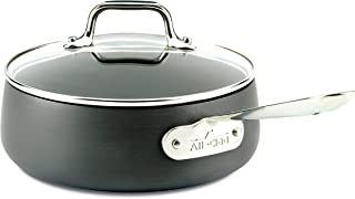 All-Clad E7852664 HA1 Hard Anodized Nonstick Dishwasher Safe PFOA Free Sauce Pan Cookware, 2.5-Quart, Black (Renewed)