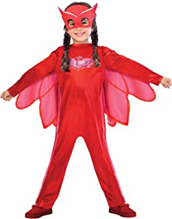Amscan Children's Costume Pj Masks Owlette, 7-8 Years, Red