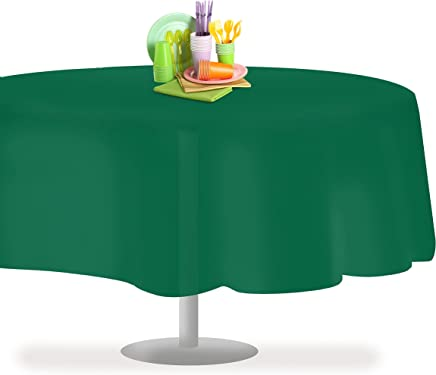 Green Round Table.Amazon Com Green Round Tablecloths Kitchen Table Linens