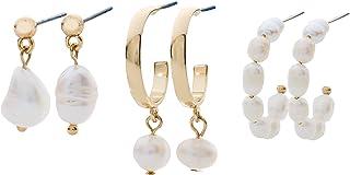 Tis The Season Huggie Set, Pearl Huggie Earring Set of...