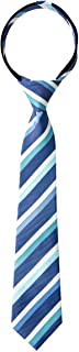 Spring Notion Boy's Striped Woven Zipper Tie Blue Large
