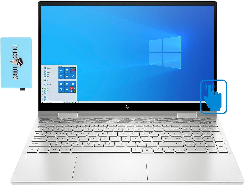 HP Envy x360 15t Home and Business Laptop 2-in-1 (Intel i7-1165G7 4-Core, 16GB RAM, 256GB SSD + 16GB Optane, Intel Iris Xe, 15.6