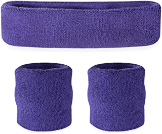 Suddora Sweatbands (Headband/Wristband Set) – Terry Cloth Athletic Sweat Bands for..