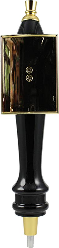 Beer Tap Handle 11 26 Black Wood Tap With Gold Accents For Bar Draft System Or Kegerator