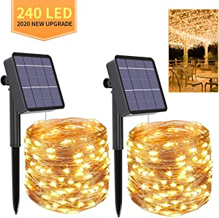 Bhclight 2 Pack Solar String Lights