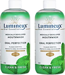 Lumineux Oral Essentials Clean & Fresh Mouthwash (2 Pack) Dentist Formulated & Microbiome Safe Alcohol/Preservative/Sugar Free