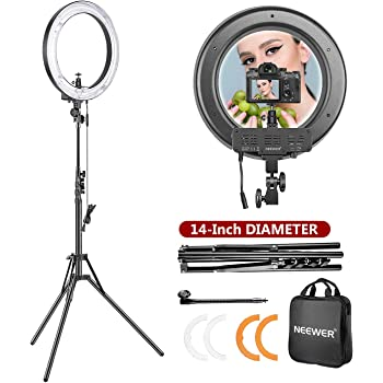 LED Ring Light 10in External 50W-5500K Dimmable Ring Light Kit for for Live Stream TIK Tok Video Makeup Vlog Photography