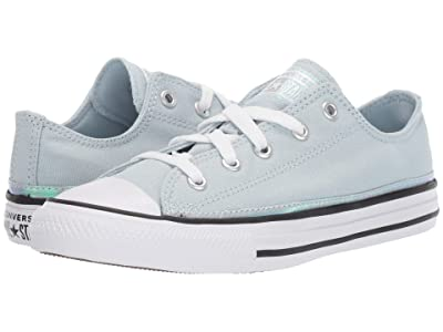 Converse Kids Chuck Taylor(r) All Star(r) Iridescent Ox (Little Kid) (Polar Blue/White/Black) Girls Shoes