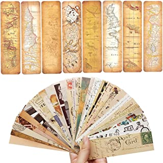 60PCS Creative Personalized Vintage Style Bookmarks Bulk for Kids Teens Women Men Party Favors Note Message Summary Functional DIY Card Gift Book Marks