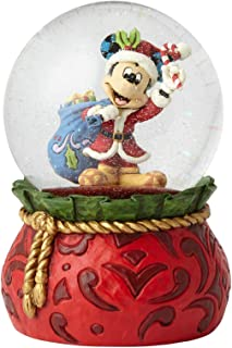 Enesco Disney Traditions by Jim Shore Santa Mickey Waterball, 5.625