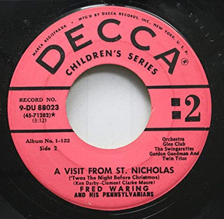 Fred Waring and His Pennsylvanians 45 RPM A Visit from St. Nicholas / A Visit From St. Nicholas