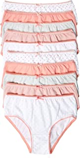 Marks & Spencer Girl's 10 Pack Pure Cotton Spotted Knickers, Pink Mix