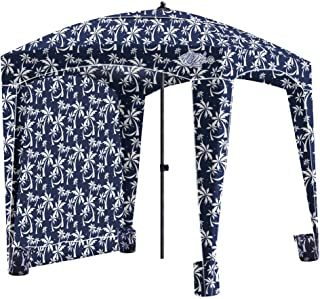Qipi Beach Cabana - Easy to Set Up Canopy, Waterproof, Portable 6' x 6' Beach Shelter, Included Side Wall, Shade with UPF 50+ UV Protection, Ultimate Sun Umbrella - for Kids, Family & Friends