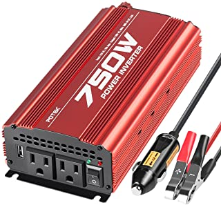 POTEK 750W Power Inverter DC 12 V to AC 115V Converter with 2A USB Charging Port