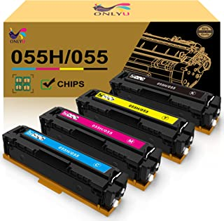 ONLYU Compatible Toner Cartridge Replacement for Canon 055 055H Color imageCLASS MF741Cdw MF743Cdw MF745Cdw MF746Cdw LBP66...