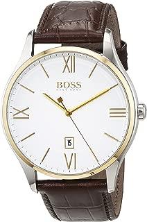 Hugo Boss Men 1513486 Year-Round Analog Quartz Brown Watch