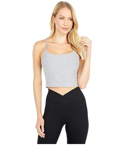Beyond Yoga Spacedye Slim Racerback Cropped Tank Top (Silver Mist) Women