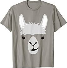 Funny Halloween Awesome Llama Face Costume Gift T-Shirt