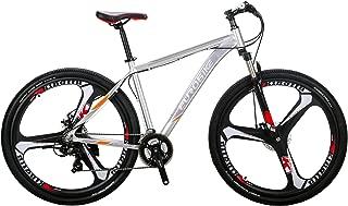 Eurobike EURX9 Mountain Bike 21 Speed 3-Spoke 29 Inches Wheels Dual Disc Brake Aluminum Frame MTB Bicycle