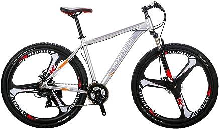 EUROBIKE EURX9 Mountain Bike 21 Speed 3-Spoke 29 Inches Wheels Dual Disc Brake Aluminum