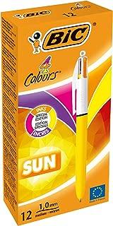 BIC 949897 4 Colours Sun Ballpoint Pen (Pack of 12)