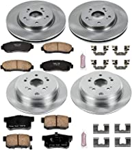 Power Stop KOE229 Autospecialty By Power Stop 1-Click Daily Driver Brake Kits Incl. 11.65 in. Front/11.98 in. Rear OE Replacement Rotors w/Z16 Ceramic Scorched Brake Pads Autospecialty By Power Stop 1-Click Daily Driver Brake Kits