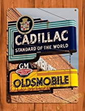 3Gold iron& Tin Sign Cadillac Oldsmobile Car Garage Dealership Vintage Art Poster Iron Painting 8X12 INCH