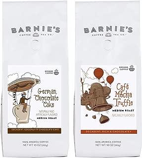 Barnie's Coffee & Tea Chocolate Flavors Ground Coffee Duo, German Chocolate Cake, Café Mocha Truffle, Medium Roast, Arabica Coffee, Two 10 oz. Bags