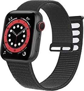 Ycysh Nylon Band Compatible with Apple Watch Band 38mm 40mm 41mm 42mm 44mm 45mm, Men Women Adjustable Sport Band Compatible for iWatch Series 7 6 5 4 3 2 1 SE