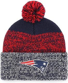 '47 Brand Static Fashion Cuff Beanie Hat with POM POM - NFL Premium Cuffed Winter Knit Toque Cap