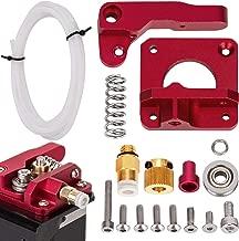 LUTER Aluminum 3D Printer MK-8 Extruder Feeder Drive Kit and White Teflon Tube PEFT Tubing(1 Meter) for Makerbot Creality CR-10 Ender 3 1.75mm Filament