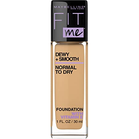 Maybelline Fit Me Dewy + Smooth Foundation, Natural Beige, 1 Fl; Oz (Pack of 1) (Packaging May Vary)